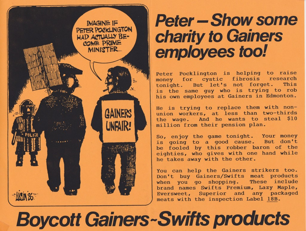 Gainers leaflet Ottawa Sep 19 1986