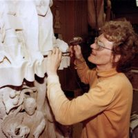 1980 member st work carving Parliament Eleanor Milne enh