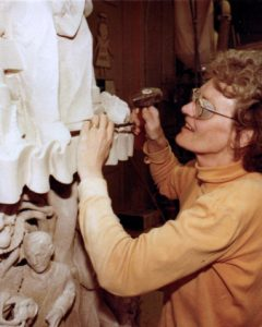 1980 member st work carving Parliament Eleanor Milne enh